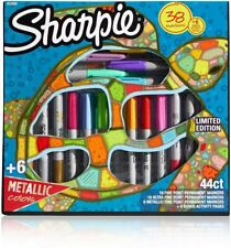 Sharpie Permanent Markers, Limited Edition Marker Set, 6 Activity Pages, 44 Ct