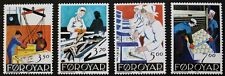 Fish processing industry stamps, 1990, Faroe Islands, SG ref: 189-192, MNH