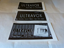 ULTRAVOX - Petite publicité de magazine / Advert !!! QUARTET !!!