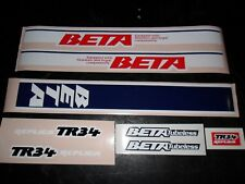 Beta TR34 air cooled mono Trials adhesive decals kit - 2 types available- Trials