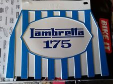 Lambretta 175 Blue Stripped cuppini Mudflap Hard Rubber Type.