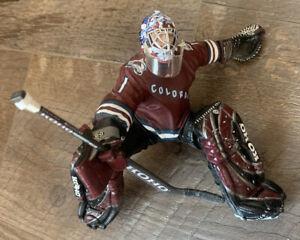 DAVID AEBISCHER  Colorado Avalanche NHL Hockey Action Figure McFarlane AVS Stick