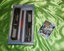 Wii Star Wars SPADA LASER duelli + 2 spada laser IN SCATOLA ORIGINALE BLU ROSSO THRUSTMASTER