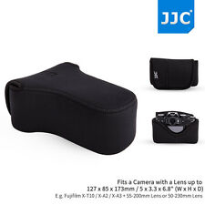 JJC Mirrorless Camera Pouch Case Bag fit Fujifilm X-T10 X-A3 A2 A1+55-200mm Lens