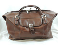 "McKlein Brown Leather Duffle Bag Business Smart Design 21"" w Shoulder Strap"