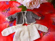 lot vetement ancien tricoté poupon poupée ,coli,gégé,bella raynal 20-25cm