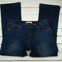 Levis 515 Jeans Womens 14 36x30 Dark Wash Mid Rise Boot Cut J147