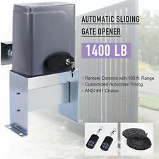 1400lbs Sliding Gate Opener Electric Operator w/ Remote Control Automatic Roller