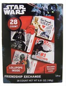 2x Star Wars Friendship Exchange Valentines Teacher Student Cards Lollipops 28ct