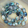 "Natural Abalone Shell Gemstone Beads 15.5"" Oval Square Coin Oblong Etc"
