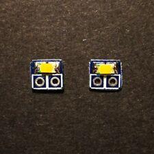 2 x PCB con MICRO LED SMD Rosso/Bianco PCB x Luci Locomotive scala N/H0