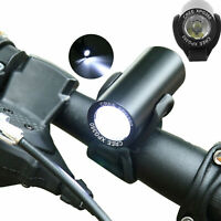 LED Bicycle Headlight Bike Head Light Front Lamp Cycling + Horn USB Rechargeable
