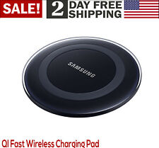 Original Samsung Galaxy Wireless Charger Pad 5V Qi Universal Black Apple Charge
