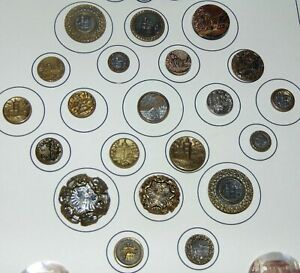 ANTIQUE Picture Buttons BUILDING On Card GREAT ASSORTMENT! Lot L