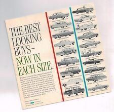 1962 Mercury COMET / MONTEREY Mini-Brochure / Pamphlet