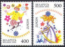 Belarus 2002 EUROPA/CIRQUE/CLOWN/Cheval/Les clowns/animation 2 V Set (n28448)