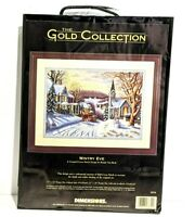 Dimensions Gold Cross Stitch Kit WINTRY EVE 3854 Vintage New