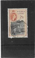 "SIERRA LEONE 1956 PICTORIAL 2s.6d. ""ORUGU RAILWAY BRIDGE"" SG.219 FINE USED"