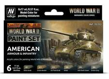 American Armor & Infantry: 6 Paint Set for Model US WW2 Soldiers (Vallejo 70203)