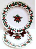Salad Plates, Dinnerware, Tableware, Set of 4 Plates Gibson Christmas Greeting
