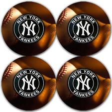 New York Yankees Baseball Rubber Round Coaster set (4 pack) / RNDRBRCSTR2018