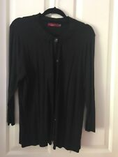 Trent Resort Black Cardigan XL 7/8 Sleeves