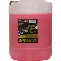 Pemco 1x10Liter KÜHLERFROSTSCHUTZ Kühlmittel Antifreeze 912 ROT -40°C Typ G12