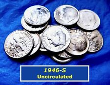 1946-S Dime �� Uncirculated �� 1st Year of Roosevelt Dimes �� (R8481)