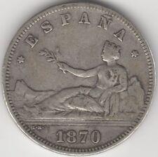 More details for 1870 spain 2 pesetas | pennies2pounds