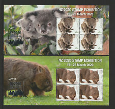 Australia 2020 : NZ2020 FIAP International Stamp Exhibition X 4 Minisheets, MNH