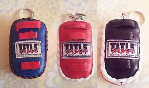 Muay Thai Kick Boxing Pad Keyring MMA BJJ UFC Taekwondo 3 Colors Available