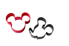 Cookie Cutter Set Wilton Mickey Mouse Design 2 Pieces Coated Metal Cut Cleanly