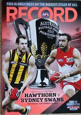 AFL 2012 GRAND FINAL RECORD Sydney Swans v. Hawthorn
