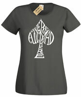 Womens We're all mad here Alice in Wonderland T-Shirt ladies top gift