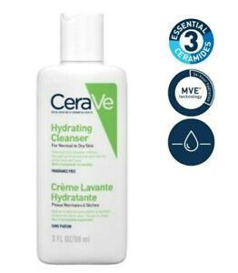 CeraVe Hydrating Cleanser Normal To Dry Skin Hyaluronic Acid & Ceramides 88ml