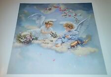 Sandra Kuck - HEAVENLY TEA 16x16 open edition poster OUT OF PRINT! Little angels
