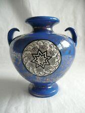 "Antique; James Kent (J.K.L), Fenton, ""Osaka"" Blue Vase."