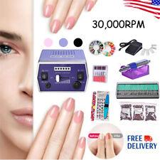 Electric Nail Drill Machine Nail Art Device Manicure File Bit Kit Up To 30000RPM