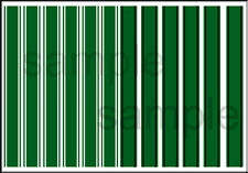 1:64 SCALE HOT WHEELS LONG RACING STRIPES STRIPE GREEN WATERSLIDE DECALS