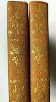 1892 7 Vol. Jane Austen Pride & Prejudice Sense & Sensibility Mansfield BEAUTY