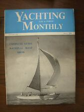 VINTAGE THE YACHTING MONTHLY MAGAZINE JANUARY 1956 NATIONAL BOAT SHOW GUIDE