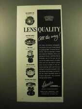 1959 Schneider Lens Ad - Xenar 4.7/135, Angulon 6.8/90