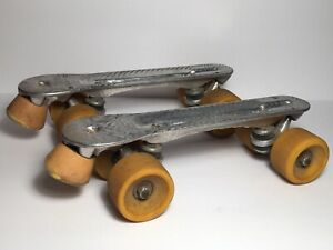 "Vintage Sure Grip Jogger Quad Roller Skate Plates & Wheels Size 8. Plates 11.75"""