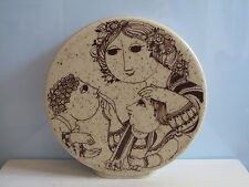 Vase Rosenthal Björn Wiinblad Keramik Mütter müssen mal behüten -mal bewahren