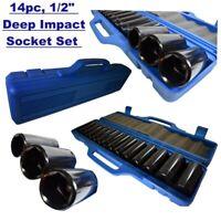 "14pc 1/2"" Dr Deep Metric Impact Socket Set 10mm - 32mm 6pt SS127"