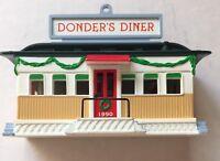 Donder's Diner Hallmark Donna Lee Santa Reindeer 1990 Figurine Ornament