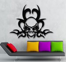 Wall Stickers Vinyl Decal Tattoo Gothic Skull Death Room Decor (ig685)