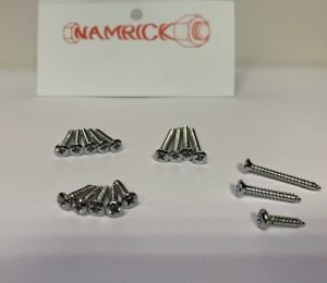 RAISED COUNTERSUNK POZI SELF TAPPING SCREWS, CHROME PLATED No.4,6,8,