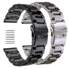 Stainless Steel Watch Band Strap For Eco-Drive Watch 18 19 20 21 22 23 24 25mm
