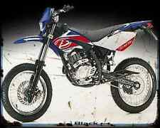 Beta Rr 125 Motard 07 A4 Metal Sign Motorbike Vintage Aged